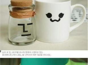韩国贴纸 make-up搞怪表情贴 3张入,文具,
