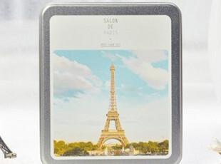 【铁盒装】巴黎东京风景明信片 32张入 可邮寄复古手绘风景 韩国,文具,