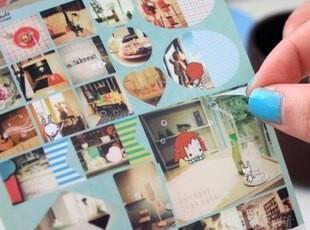 韩国文具 日记装饰贴纸 anne游世界 款式随机发【O系列】2张入,文具,