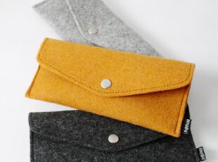 zaa杂啊 木朴简约方形笔袋 环保羊毛毡眼镜盒袋OL职业笔包,文具,