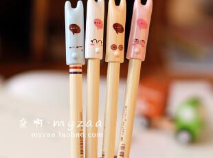 zaa杂啊 可爱搞笑表情兔 日韩文具创意中性笔 0.38黑色笔芯 水笔,文具,
