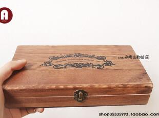 zaa杂啊 复古木盒装旅行风景系列印章 制造回忆的欧洲情怀 17枚,文具,