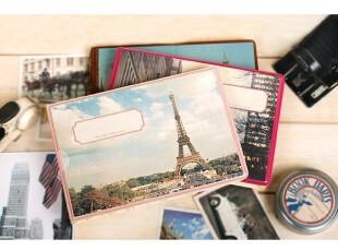 韩国文具 新款欧洲风景相册 巴黎铁塔相册 插页式相册 6寸相册,文具,