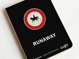 zaa杂啊 九口山原创 正版 320page牛皮纸裸装笔记本-Runaway,文具,