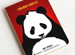 九口山 创意Imaginote320裸装Page牛皮纸线装本-熊猫 32k 厚,文具,