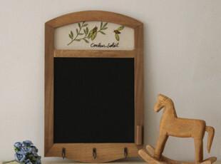 田园系列复古做旧壁饰zakka 杂货 木制黑板挂件 拍摄摄影背景道具,文具,