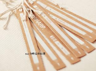 zaa杂啊 复古硬牛皮纸麻绳创意书签铅笔图案 韩国文具 8个装 特价,文具,