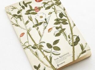 zaa杂啊 九口山手抄本随身本 牛皮纸日记本 野蔷薇线装本笔记本,文具,