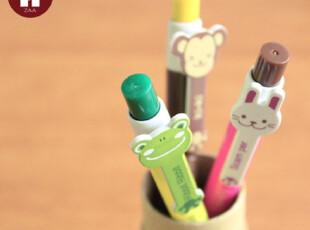 zaa杂啊 韩国文具批发 可爱卡通动物 青蛙自动圆珠笔 6款入特价,文具,