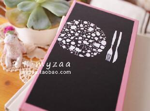zaa杂啊 素食主义-简约彩色内页硬皮记事本 长款笔记本子 48k厚,文具,