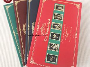 zaa杂啊 航海之旅复古欧式笔记本 精美长款便签本子 记事本48k,文具,