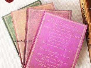 zaa杂啊 不变的旋律 复古金色欧式精装记事本子 经典园背 20k大本,文具,