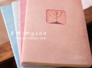 zaa杂啊 四季森林-简约文艺系笔记本 抄写本子 单行线车线本 32k,文具,