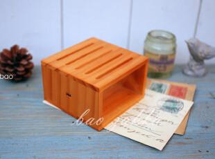 BAO ZAKKA 杂货 原木丝印多格放卡盒 名片盒 展示盒,文具,