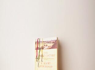 日韩文具 经典 复古 皮绳 钥匙书签 三色入 家居饰品 桌面摆设,文具,