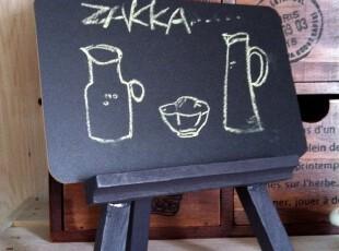 ZAKKA 日本杂货 木制迷你随记小小黑板 带木架,文具,