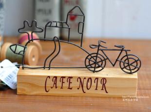 Bao ZAKKA 日单 铁艺Café noir 山顶公寓与单车 名片座 留言夹,文具,