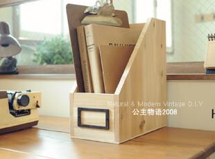 『韩国网站代购』惬意享受 精致手工制作松木桌面书架/杂志架,文具,