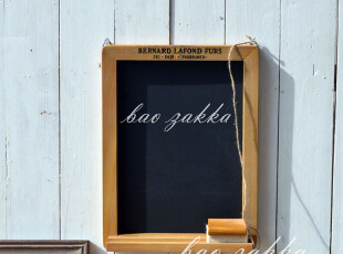 BAO ZAKKA 旧木 带托 壁挂 展示黑板 送板擦 3362 限量送木盒粉笔,文具,