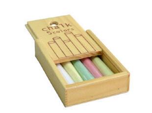 BAO ZAKKA 杂货 日单 小木盒 5色粉笔 5支装,文具,