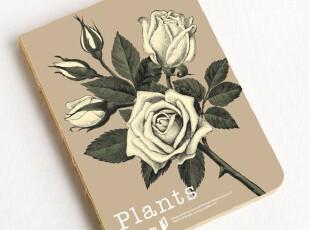 zaa杂啊 九口山原创正版Imaginote320p牛皮纸裸装笔记本子-玫瑰,文具,