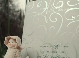 银婚25年 Silver wedding  祝福卡纪念卡,文具,