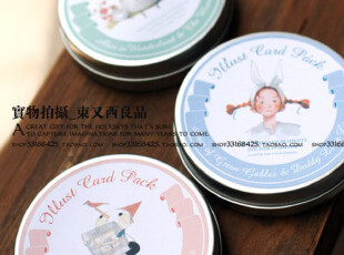 小铁盒的迷你卡组合 贴纸 信封 韩国插画,文具,