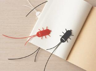 生活中的小幽默~微笑蟑螂书签|3色可选【台湾_ink】,文具,