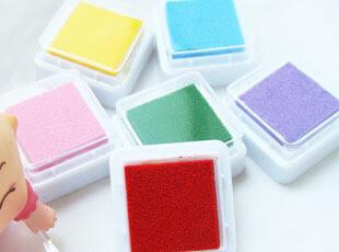 UMI韩国款文具印章必备小清新可爱六色彩色小印泥(单色),文具,