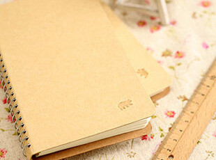 幸福市集★创意文具 简约清新牛皮纸线圈 笔记本记事本子,文具,