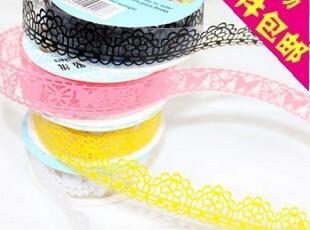 0391 韩版 镂空蕾丝文具贴纸 蕾丝装饰贴带 礼品包装贴带,文具,