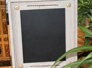 小黑板白板画板绿板儿童挂式教学办公留言板木制田园复古手工做旧,文具,