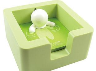 【创意站】正品十度良品 时尚温泉小子便签盒 送便签条 绿色 粉色,文具,