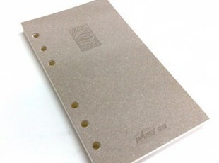 金辉PLUME 六孔活页替芯 米黄色道林纸 A5活页芯/8寸活页纸,文具,