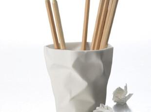 丹麦Essey Bin Bin 笔筒 文具收纳筒(白色),文具,