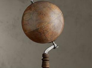 简单的奢华 美国代购包邮 经典复古做旧法式纯手工地球仪,文具,