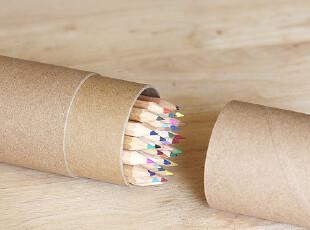 再生活/留言 生态良品ecogoods36色彩色铅笔长 原木制 00378,文具,
