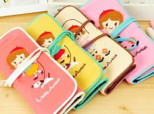 三年二班●韩国文具 小小艺术家可爱绑带大容量笔袋 化妆袋收纳袋,文具,