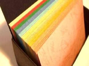 10色彩虹本单词卡diy空白卡片明信片文摘卡涂鸦卡便条本100张,文具,