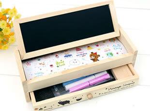 双层木质抽屉 多功能笔盒 铅笔盒 文具盒 韩国文具 笔袋 韩版笔盒,文具,