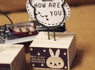 【满68包邮】韩国文具韩国 原木 铁丝 可爱便签夹 留言夹 照片夹,文具,