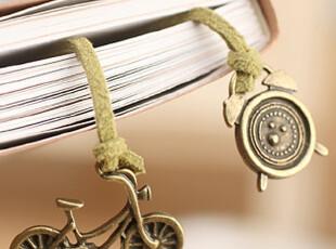 懒角落★日韩国 韩版 复古怀旧 手链 装饰绑绳 书签 23193,文具,