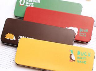 满29包邮 日韩国文具 韩版可爱卡通 彩色铁质 笔盒 文具盒,文具,