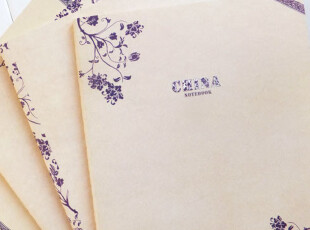 【本木生活】本木/中国风青花瓷 16K  横线内页作业本车线本,文具,