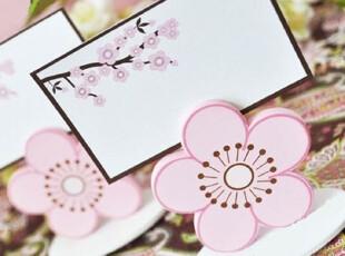 『韩国网站代购』五色花瓣五种希望 粉红花朵卡片夹,文具,