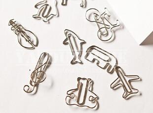 【特价不包邮】创意文具~超有爱金属造型创意别针书签 银,文具,