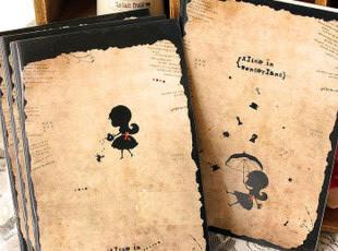 日韩国文具 Alice爱丽丝笔记本 32K骑马钉记事本子 塑料封面 B078,文具,