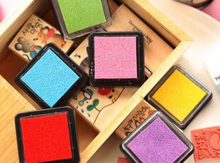 生活糖果 48包邮 文具 可爱彩色 小印泥 日记印章伴侣 单色 小款,文具,