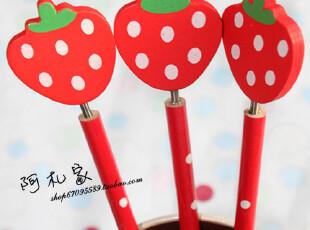 满45包邮 韩国文具 卡通可爱铅笔 草莓铅笔 儿童学生铅笔 学习品,文具,