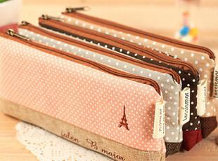 C大调♥韩国文具 时尚简约 棉麻时光 可爱创意笔袋 文具袋 化妆袋,文具,
